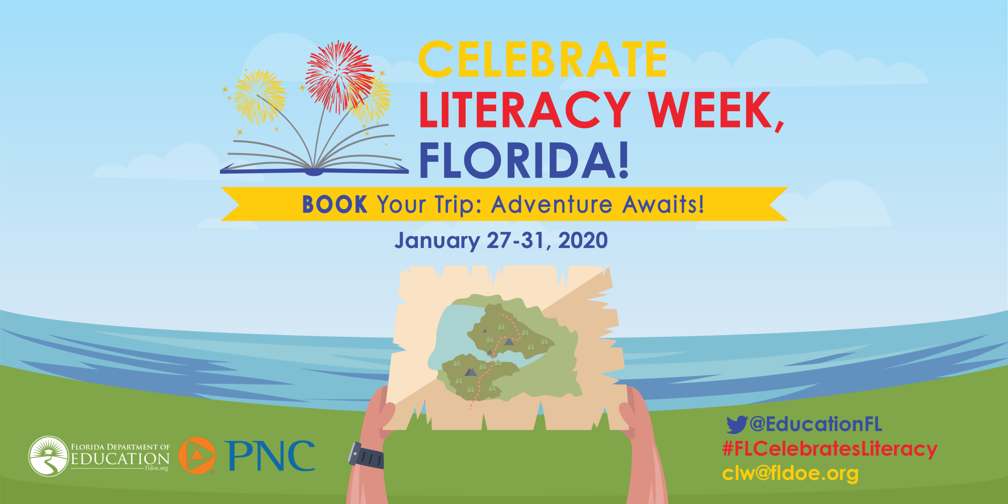 Celebrate Literacy Week, Florida! Graphic from Florida Department of Education